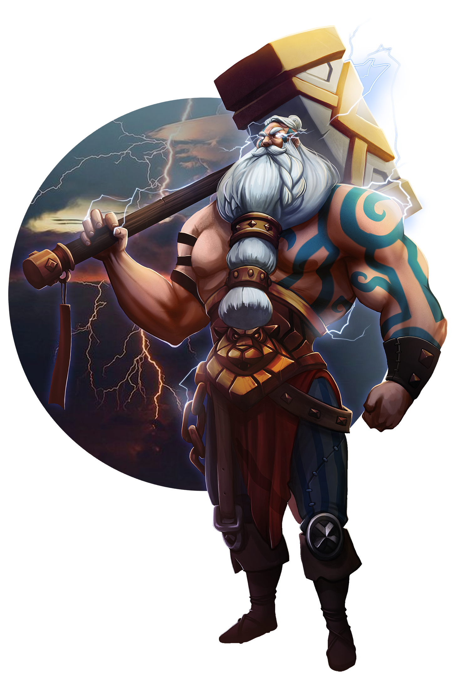 Lightning barbarian concept art